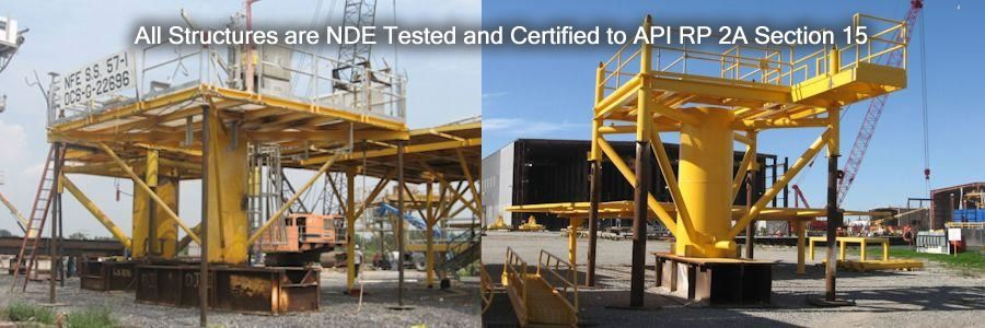 NDE Tested and Certified to API RP 2A Section 15.